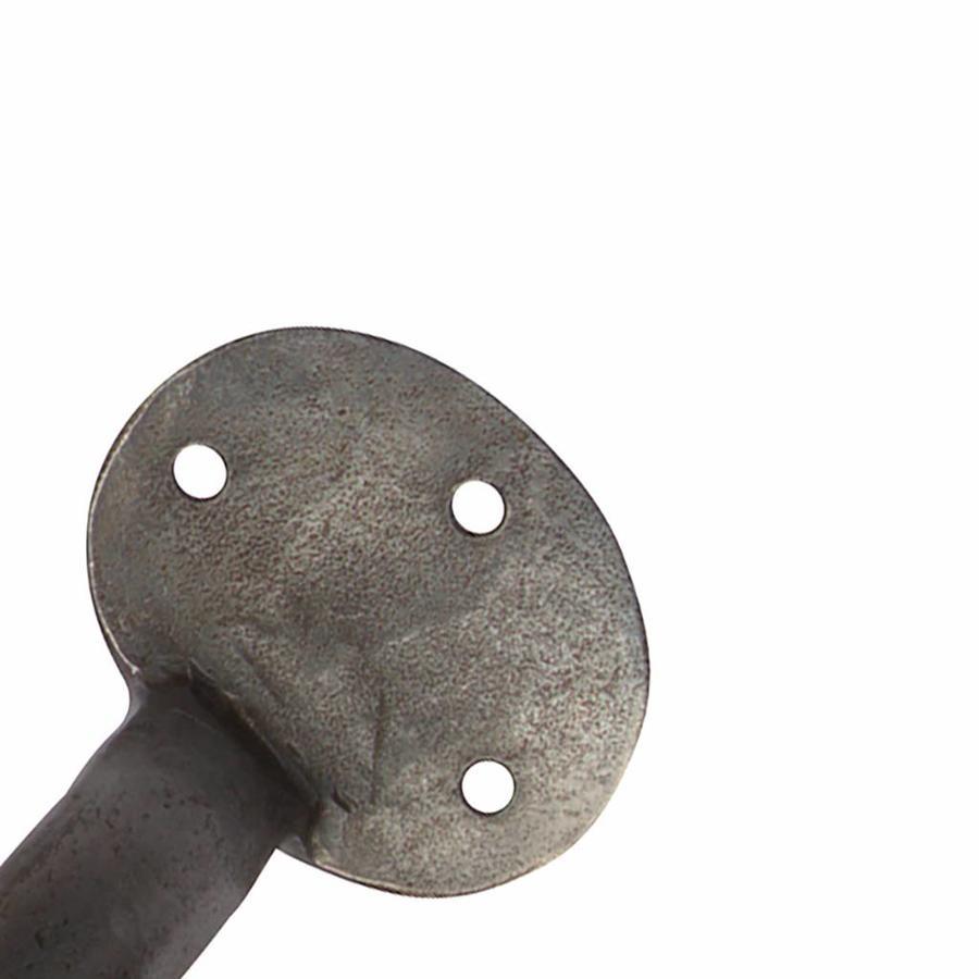 Smeedijzeren handgreep rond 203mm - Pewter