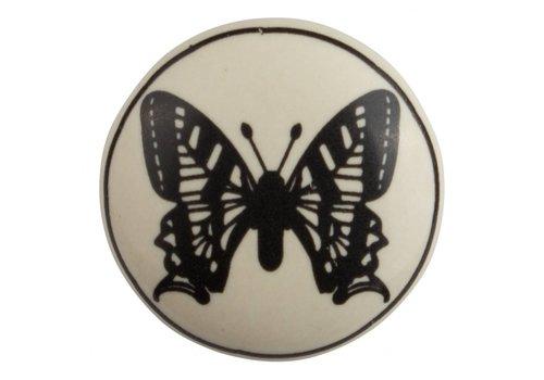 Meubelknop 40mm vlinder