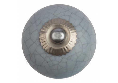 Meubelknop 40mm lichtgrijs craquelé