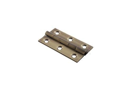 Fingertip Designs Meubel scharnier in antiek brons, 64mm, 2 stuks.