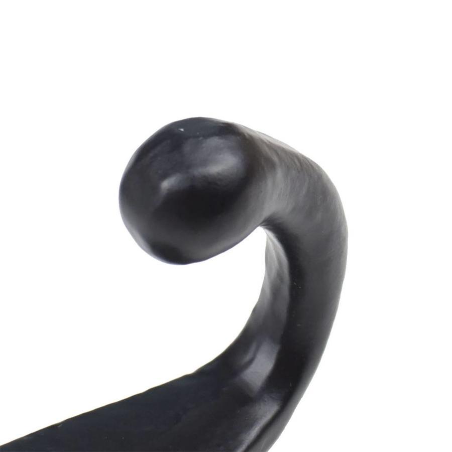Kapstokhaak enkele haak zwart gelakt