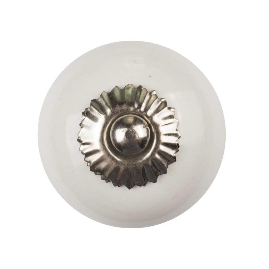 Porseleinen meubelknop wit
