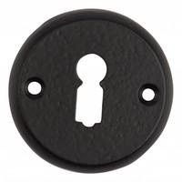 Sleutelgatplaatje zwart gelakt voor kastsloten