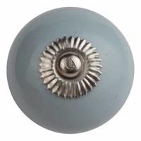 Porseleinen meubelknop lichtgrijs