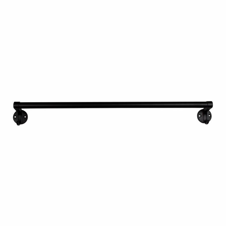 Handdoekrail 63cm zwart gelakt, kleine haken
