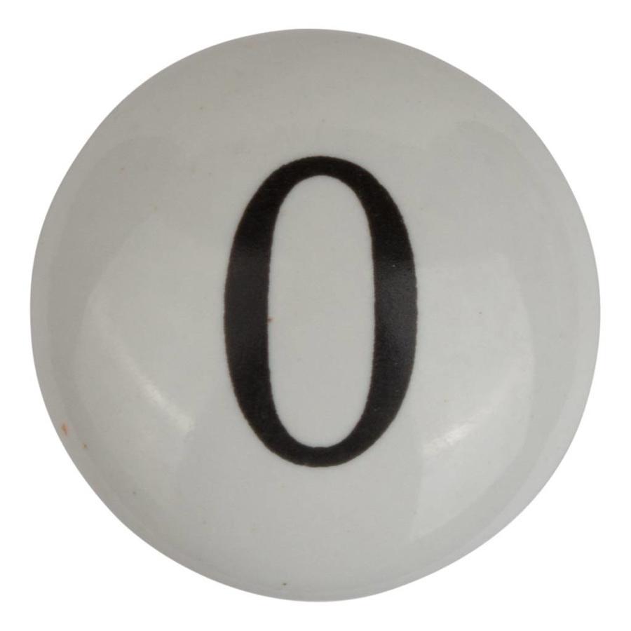 Porseleinen meubelknop nummer 0