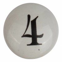 Porseleinen meubelknop nummer 4