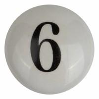 Porseleinen meubelknop nummer 6