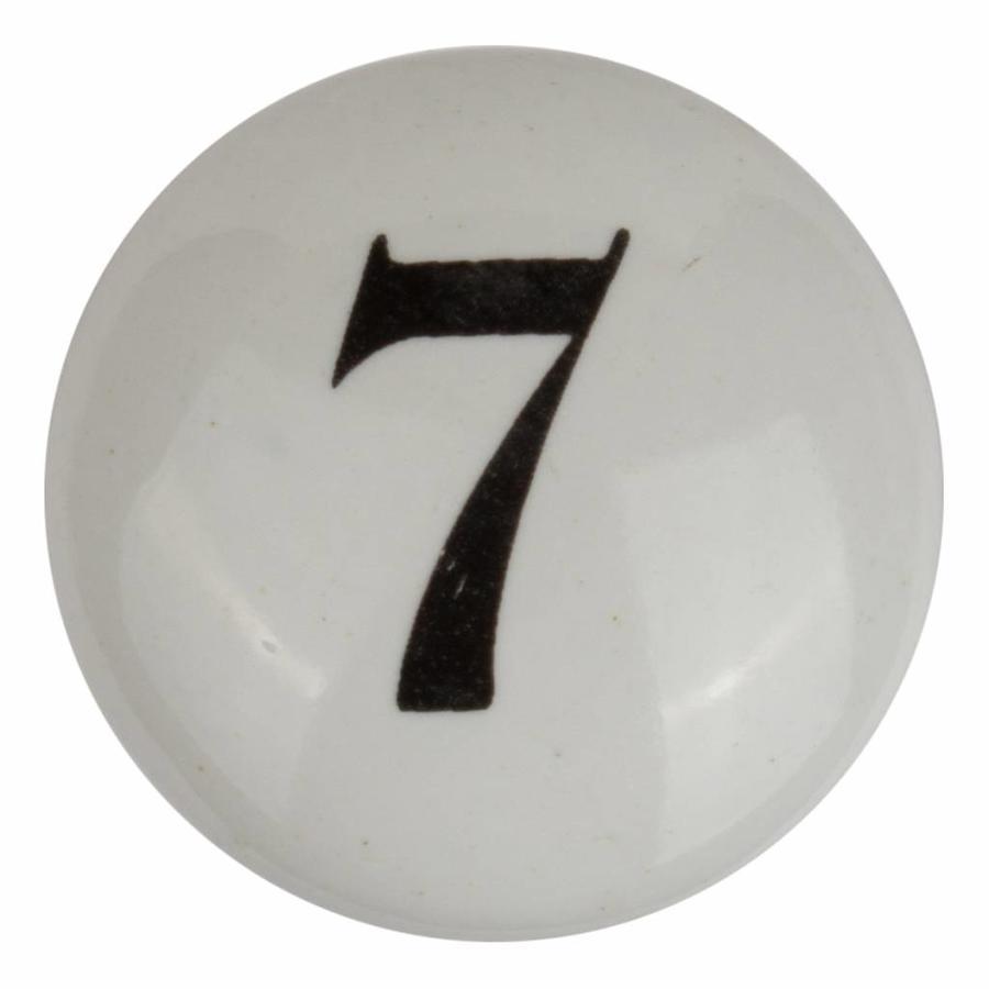 Porseleinen meubelknop nummer 7