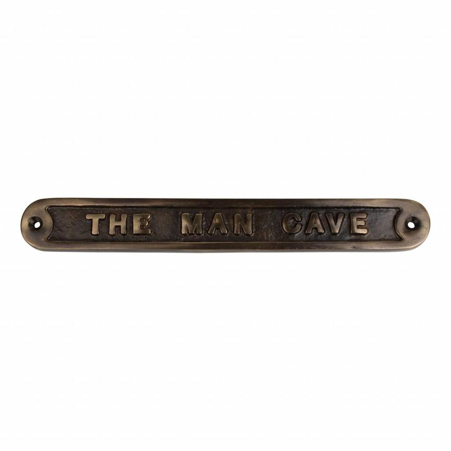 Tekstbordje The Man Cave - Antiek Messing