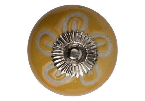 Meubelknop reliëf deco CK5504 bloem