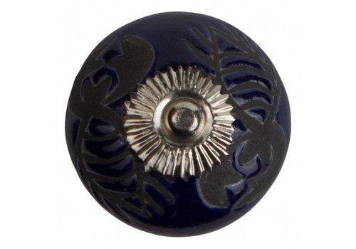 Meubelknop 40mm kreeft blauw