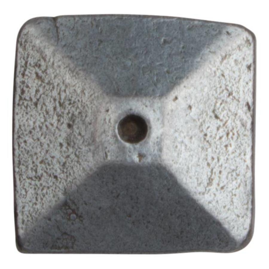 Siernagel 24 x 24 x 35mm - piramide kop - Pewter
