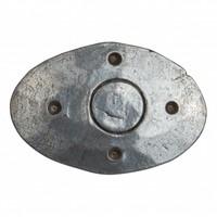 Siernagel 40 x 25 x 35mm - ovale kop - Pewter