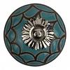Meubelknop 40mm reliëf Deco blauw/zwart
