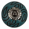 Meubelknop 40mm blauw/zwart