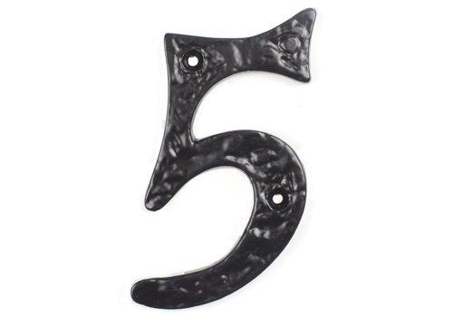 Huisnummer 5 cursief