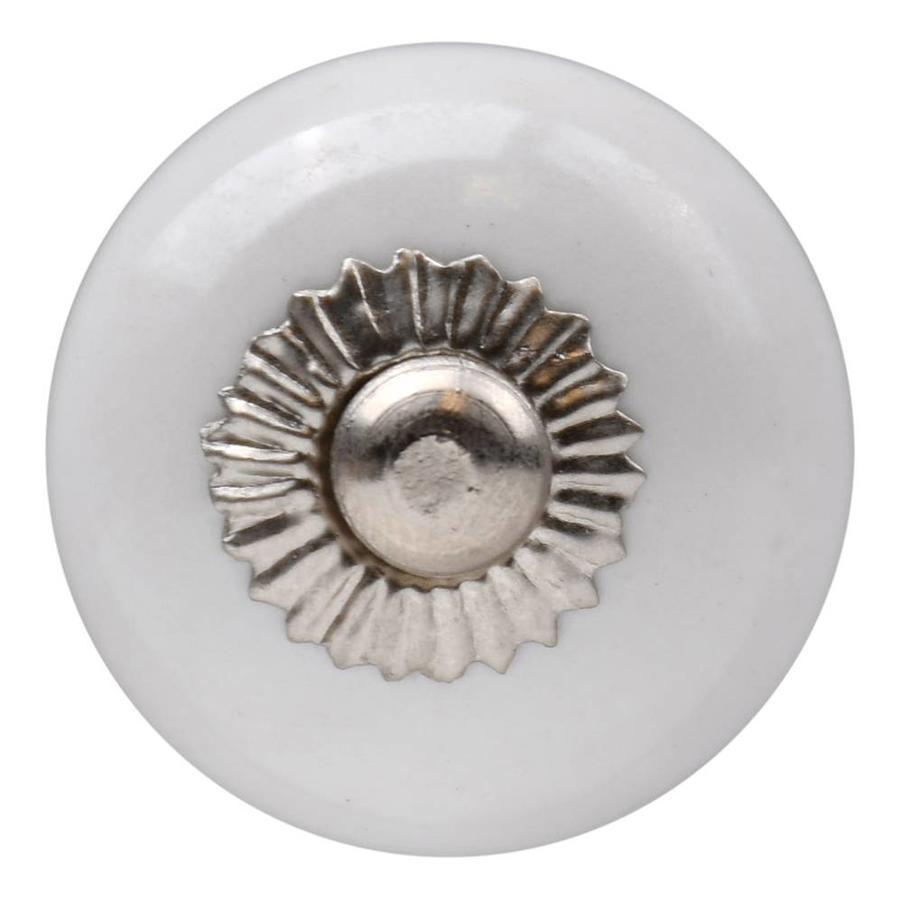 Porseleinen meubelknop wit 30mm