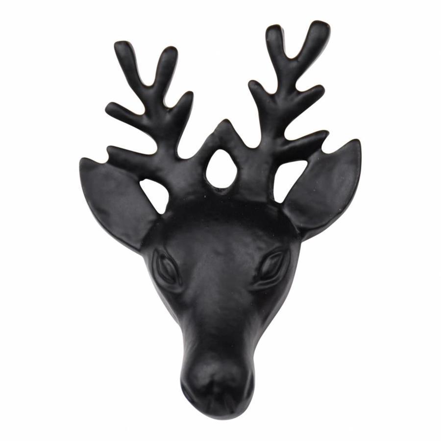 Gietijzeren meubelknop rendier zwart
