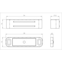 Magneetsnapper wit nylon 56mm