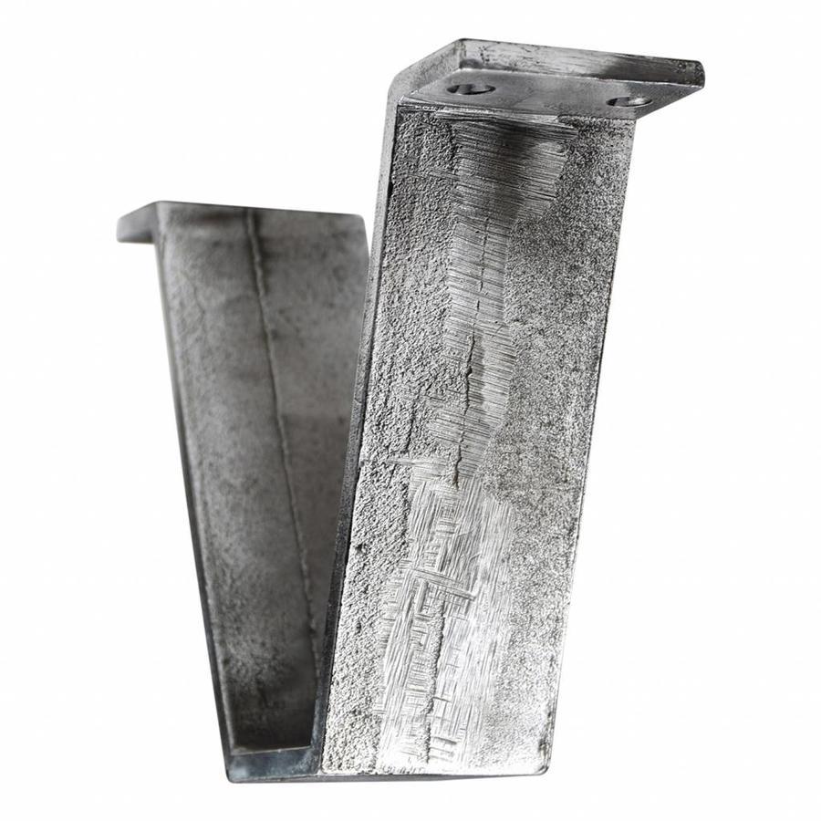 Gietijzeren tafelsteun industrieel - Pewter