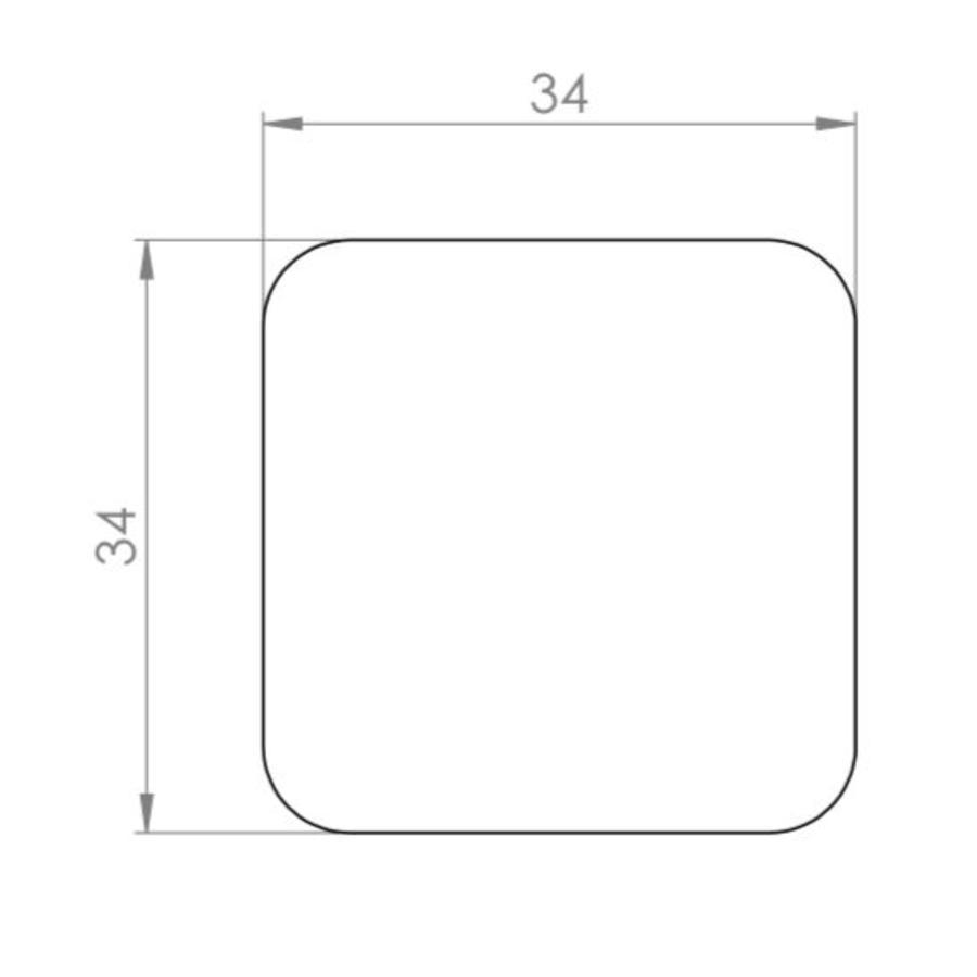 Gietijzeren kastdeurknop 32mm hamerslag-pewter effect