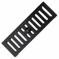 Gietijzeren ventilatierooster 230 x 80mm - zwart gelakt