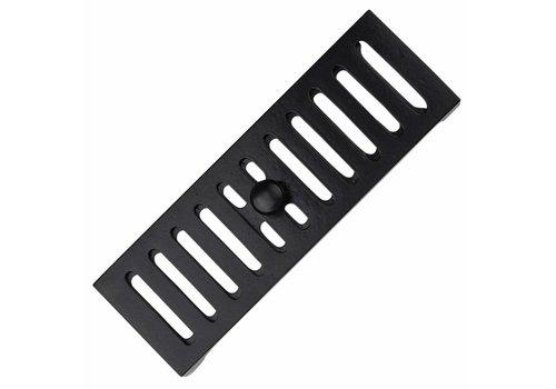 Ventilatierooster 230 x 80mm - zwart gelakt