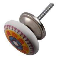 Porseleinen meubelknop Happy Industrial VII - 40mm