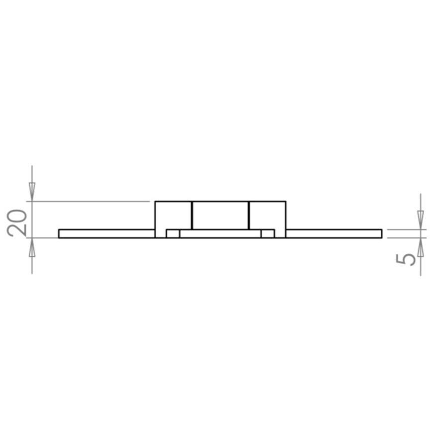 Smeedijzeren scharnier 38 cm van Ludlow foundries
