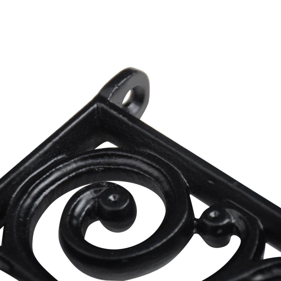 Gietijzeren plankdrager Krul - zwart