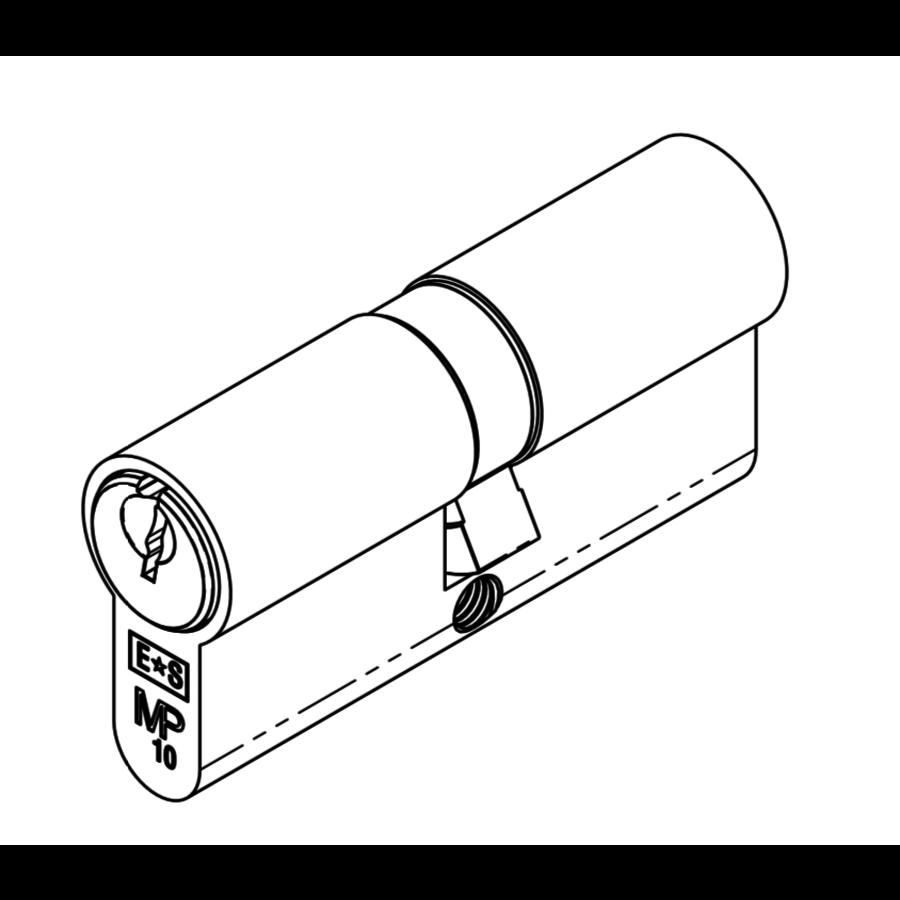 Euro Cilinderslot - zwart