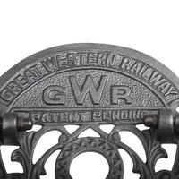 """Gietijzeren toiletpapierhouder """"GWR"""""""