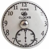 """Porseleinen meubelknop """"Paris Clocks"""""""