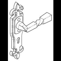 Gietijzeren deurkruk op schild - kastslot - Gotische