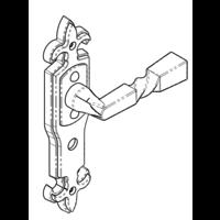 Gietijzeren deurkruk op schild - vrij/bezet - Ludlow Foundries