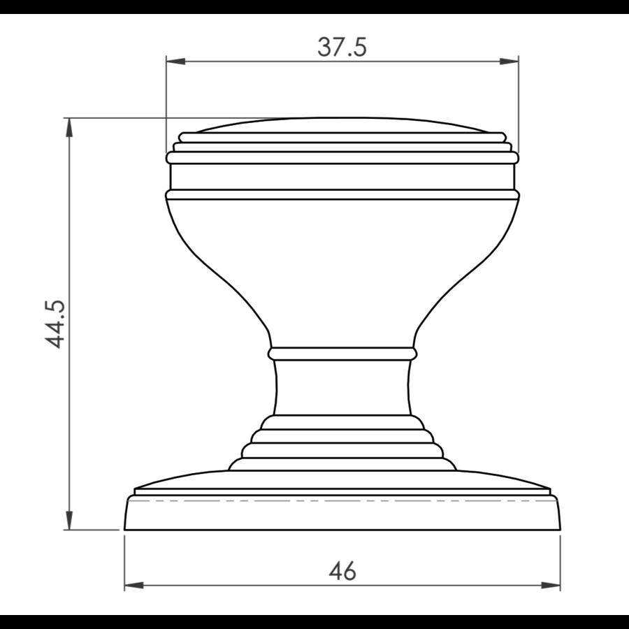 Kastdeurknop - antiek zwart van Fingertip Designs