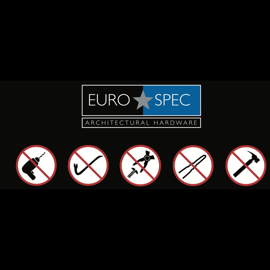 Euro Cilinderslot met draaiknop, Zwart