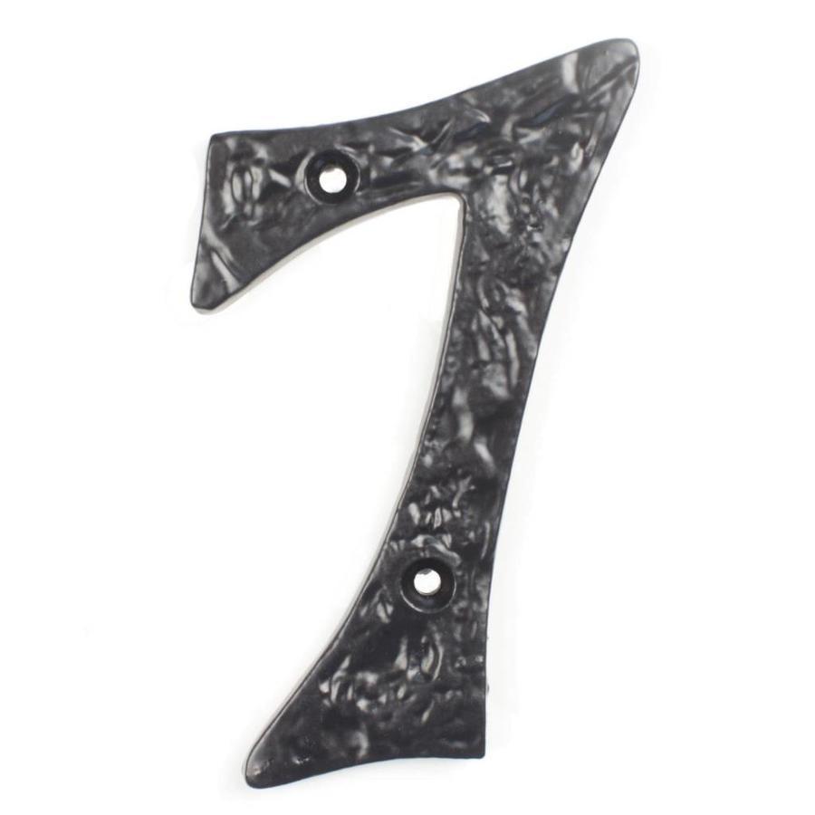 Gietijzeren huisnummer 7 cursief