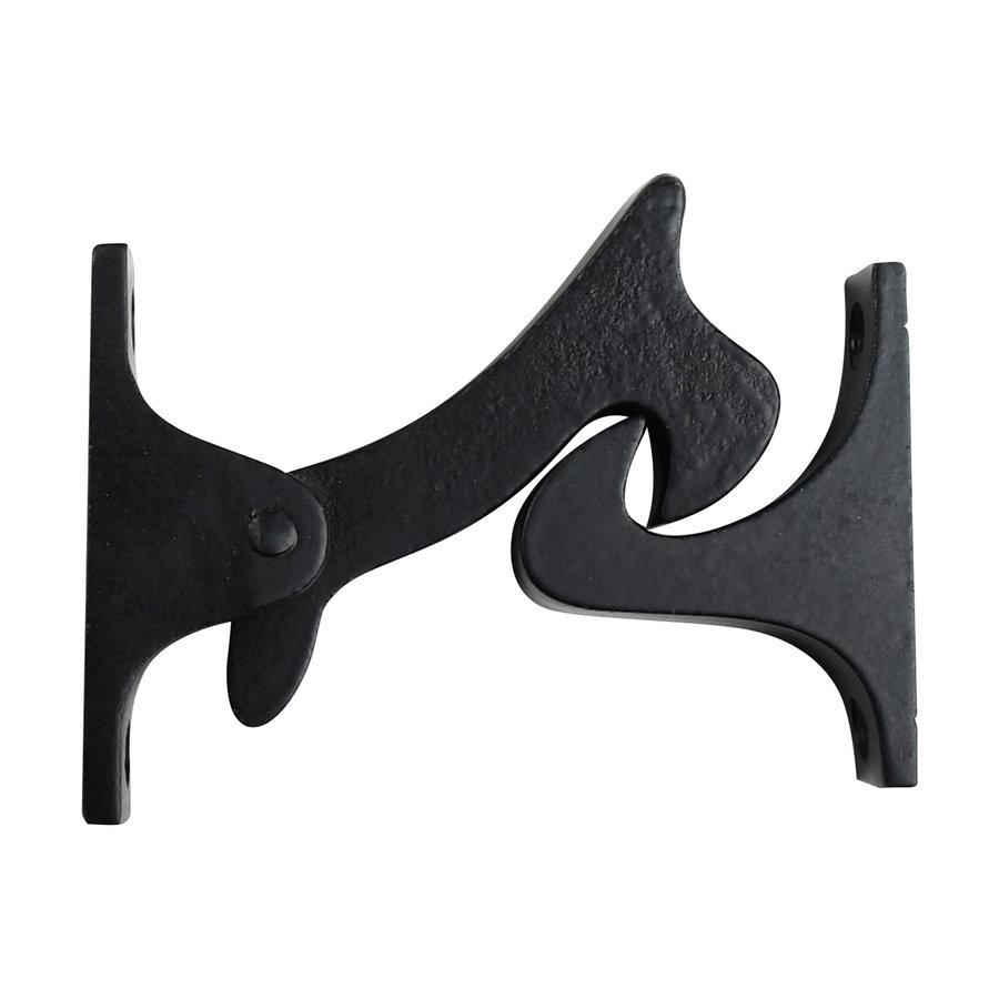 Gietijzeren deurvastzetter - zwart