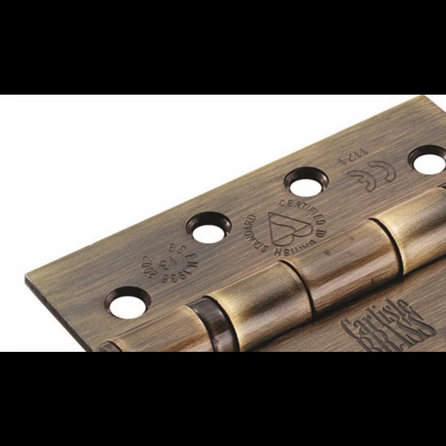 Bladscharnier 102 x 76mm - verweerd brons
