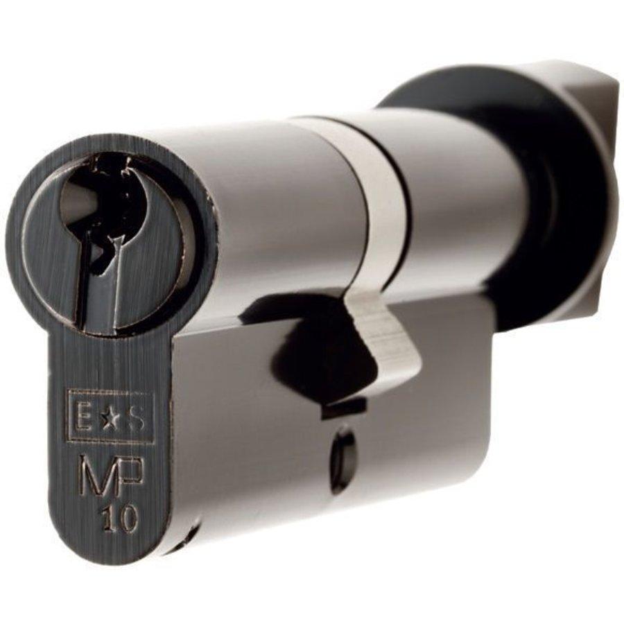 Ongelijke europrofiel cilinder met draaiknop - zwart -