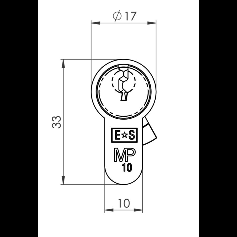 Europrofiel cilinder ongelijk, zwart gecoat