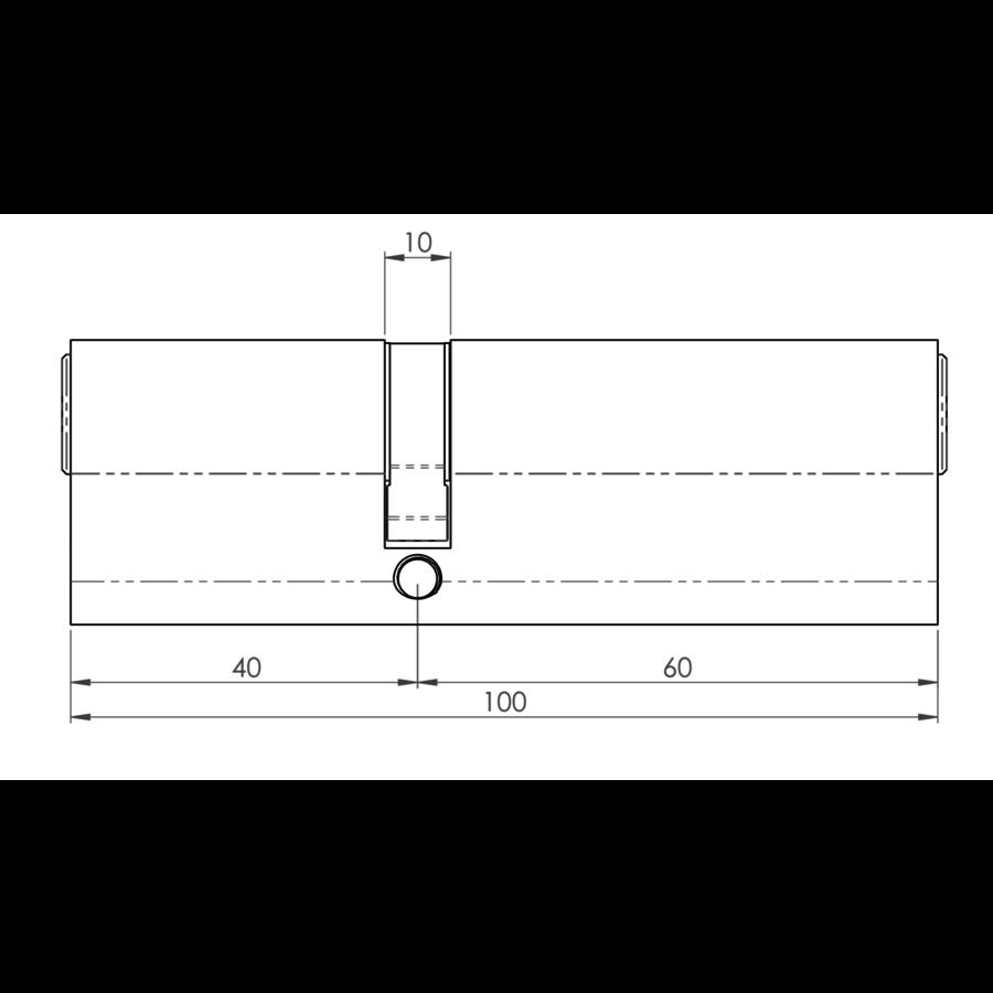 Europrofiel cilinder ongelijk gelijksluitend zwart gecoat