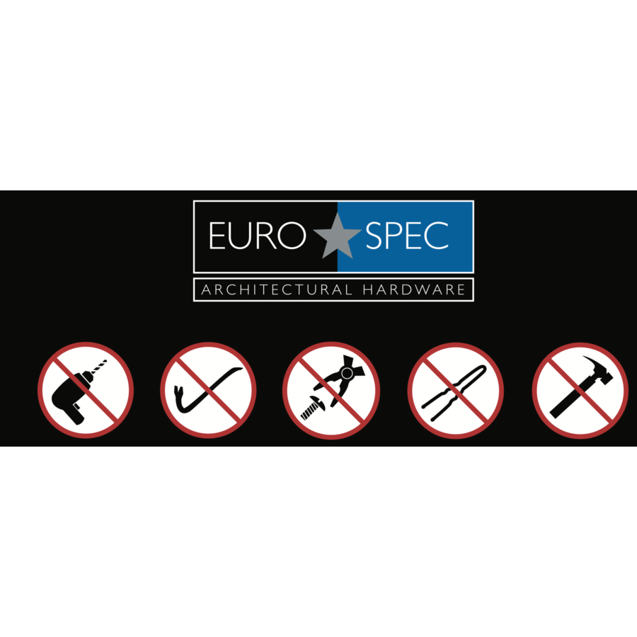 Europrofiel cilinder ongelijk met draaiknop gelijksluitend zwart gecoat