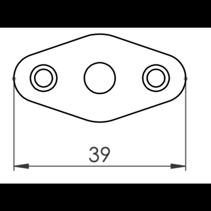 Insteekgrendel 61mm en draaiknop, zwart gelakt