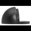 Deurstopper half rond - mat zwart gelakt