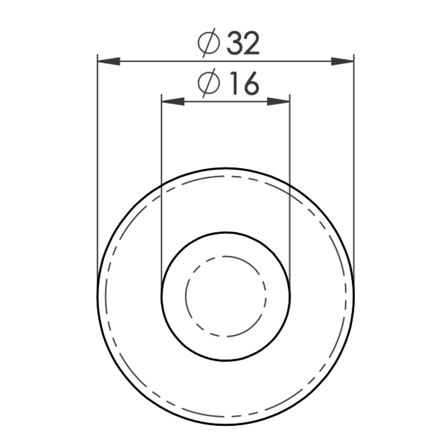 Deurstopper  rond - mat zwart gelakt - Ludlow Foundries