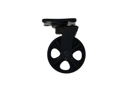 Industrieel wiel - zwart gelakt - klein