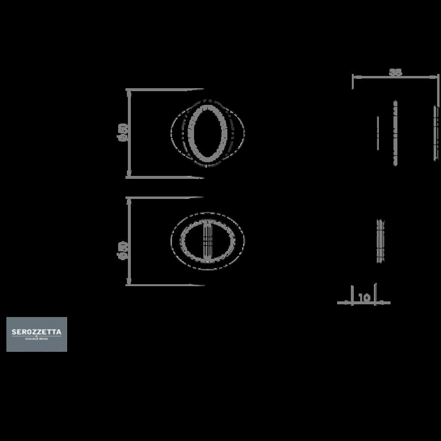 Serozzetta badkamersluiting - mat zwart